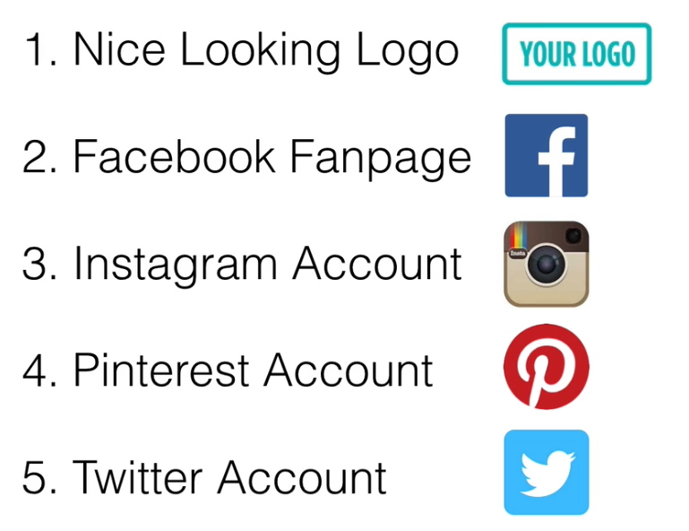 You Social Media Kit should include a Good Logo, Facebook Fanpage, Instagram Account, Pinterest Account and Twitter Account
