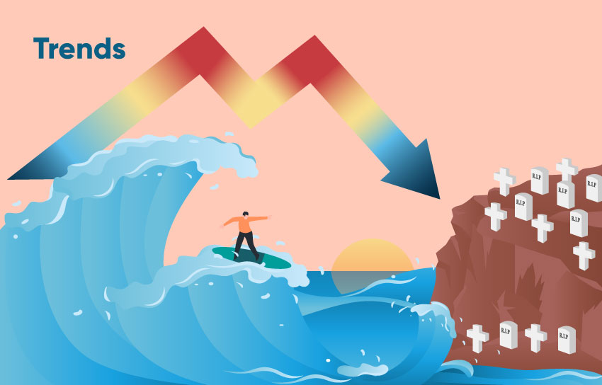 Successful dropshippers urge you to ride the wave of success of other dropshippers. But these are murky waters. Beware!