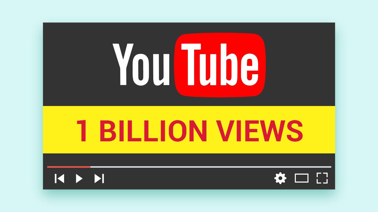 one billioin youtube views