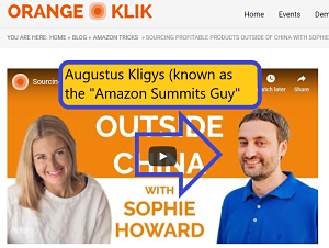 Sophie has been featured on the Amazon Summits Guy podcast which is run by Augustus Kligys