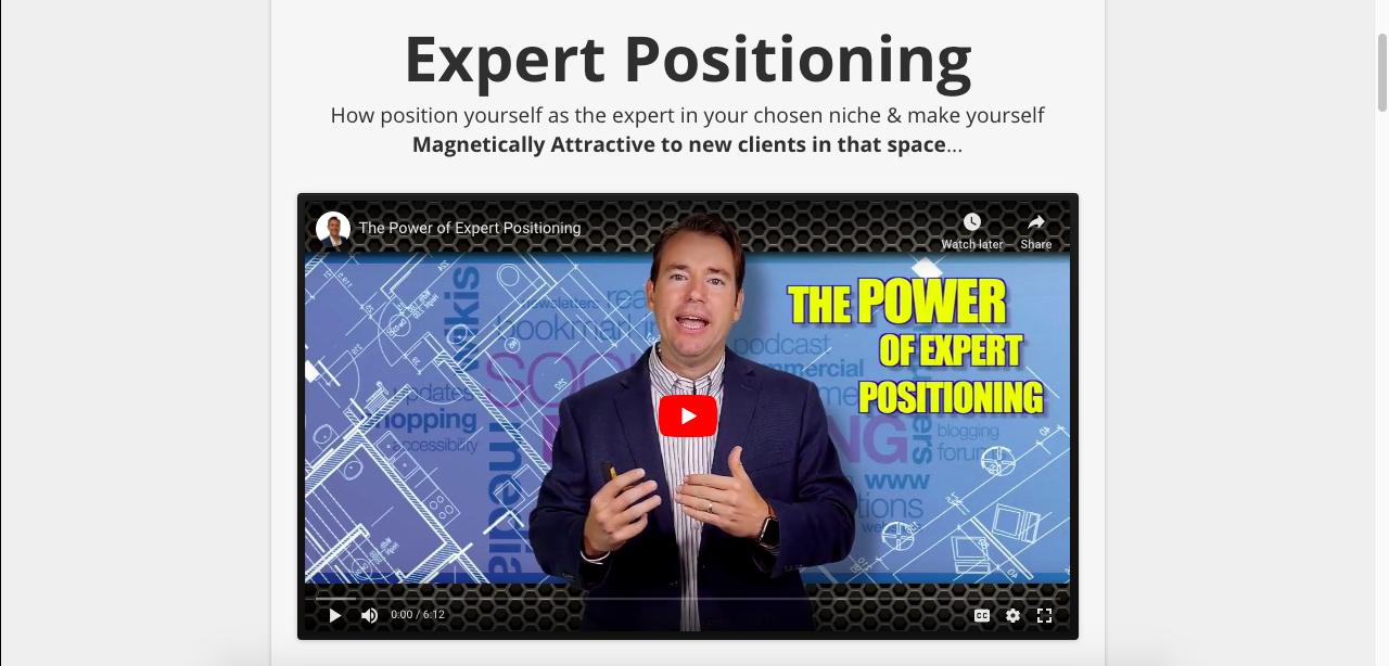 Expert positioning