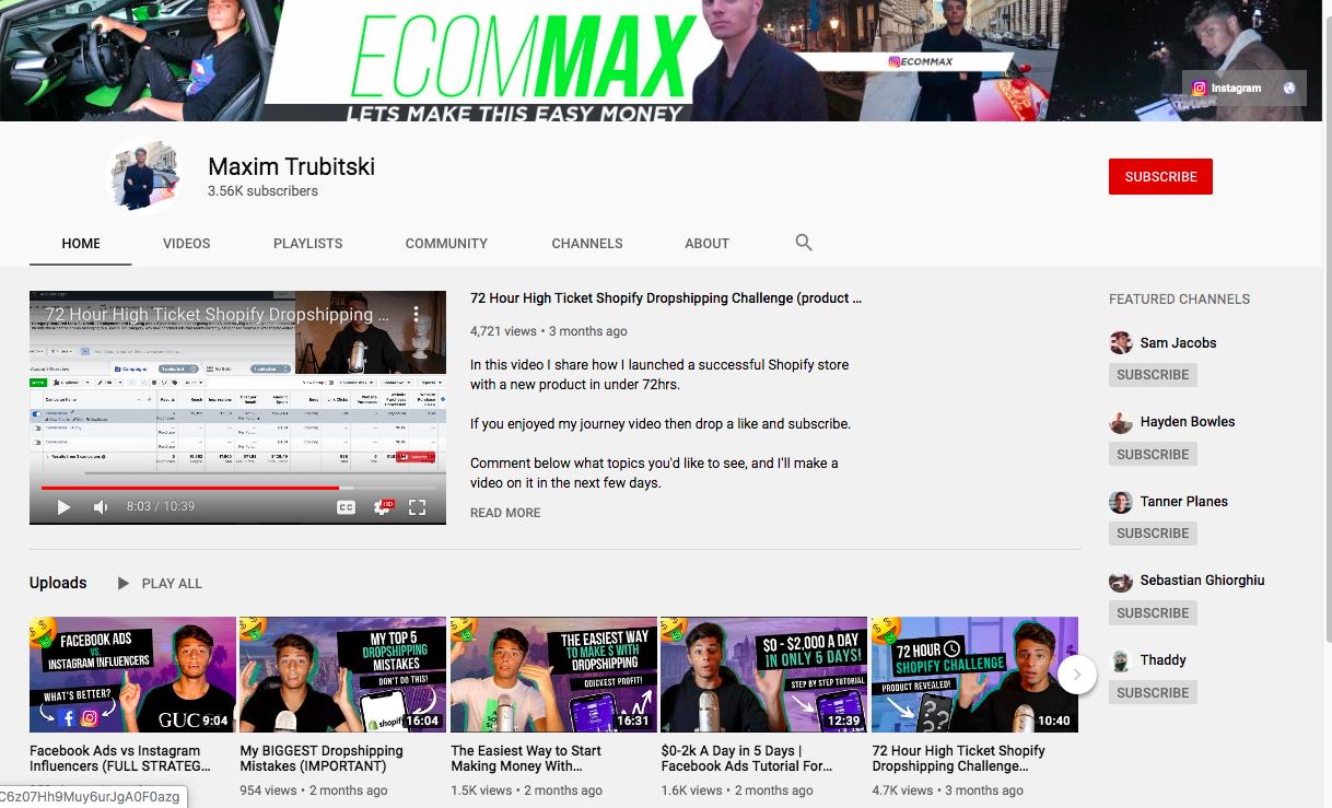 Maxim T YouTube videos