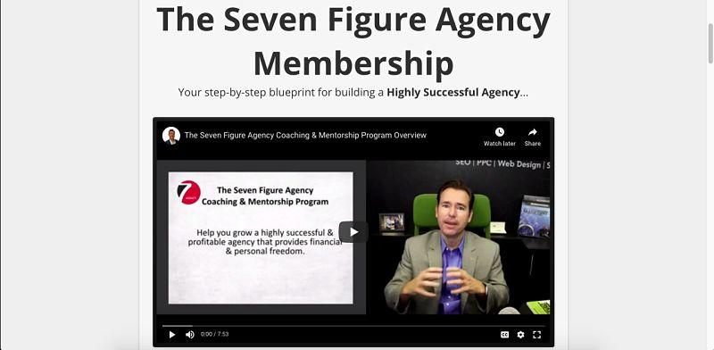 Seven figure agnecy membership