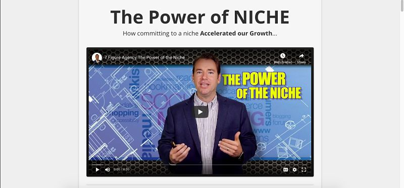 The power of niche